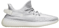 White Reflective Teezy Boost 350 V2 Sneakers