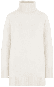 White Turtleneck Sweater-Max Mara
