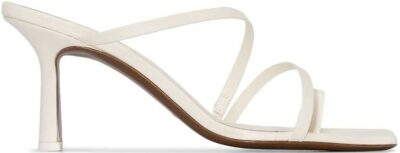 White Venus 80mm Leather Mules-Neous
