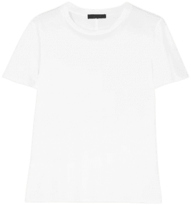 White Wesler Cotton-Jersey T-Shirt-The Row