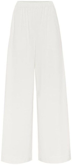 White Wide-Leg Pants-Joseph Lo
