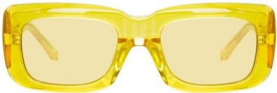 Yellow Marfa Rectangular Sunglasses