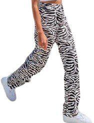 Zebra Own It Pants-SHEKOU