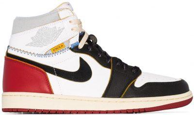 Air Jordan 1 Retro Hi Union Black Toe Sneaker-Jordan