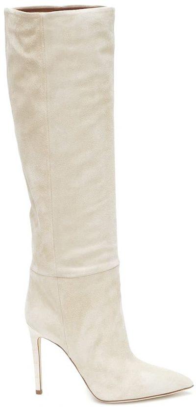 Angora Suede Knee-High Boots-Paris Texas