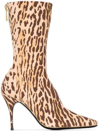 Animal Print Mid-Calf Boots