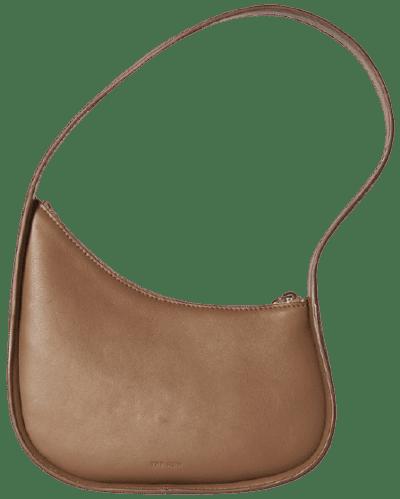 Beige Leather Half Moon Bag-The Row
