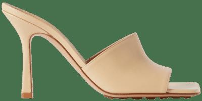 Beige Leather Mules-Bottega Veneta