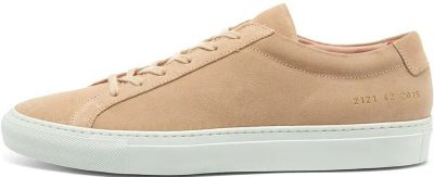 Beige Original Achilles Low Suede Sneaker-Common Projects