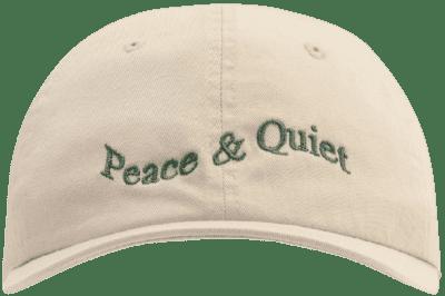 Beige Warped Wordmark Cap-Museum Of Peace & Quiet