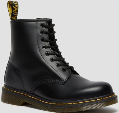 Black 1460 Smooth Leather Lace Up Boots-Dr. Martens