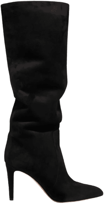 Black 85 Suede Knee Boots-Gianvito Rossi