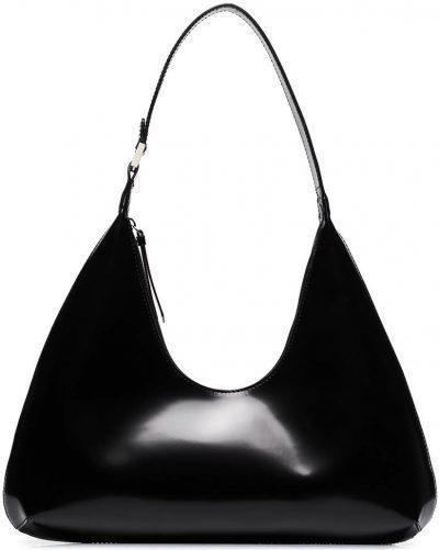 Black Amber Leather Shoulder Bag-By Far