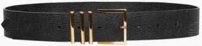 Black Andrea Leather Belt-Anine Bing