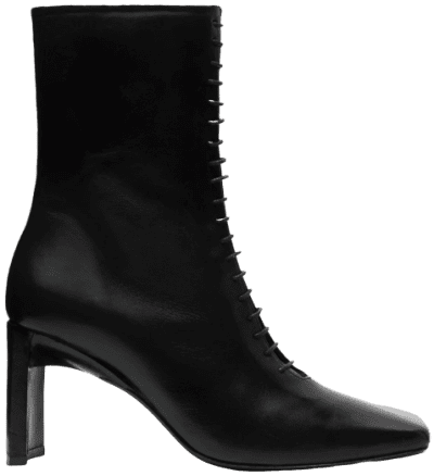 Black Ania Leather Boots
