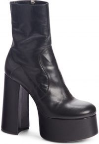 Black Billy Kangaroo Leather Platform Boot-Saint Laurent