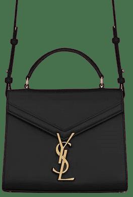 Black Cassandra Mini Top Handle Bag-Saint Laurent