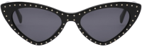Black Cat-Eye Micro Studs Sunglasses