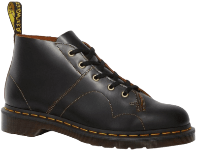 Black Church Smooth Leather Monkey Boots-Dr. Martens