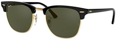 Black Clubmaster Classic Sunglasses-Ray-Ban