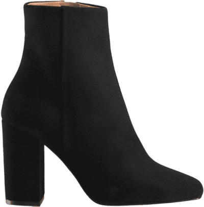 Black Date Night Heeled Ankle Boot