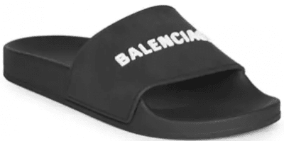 Black Embossed Logo Pool Slides