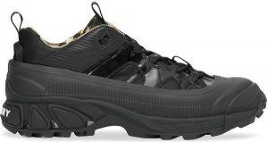Black Faux Nubuck And Mesh Arthur Sneakers-Burberry