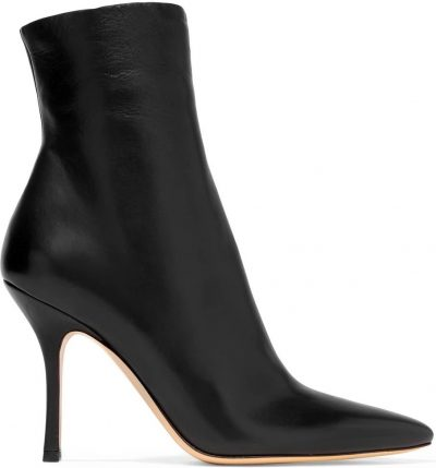 Black Gloria Leather Ankle Boots-The Row