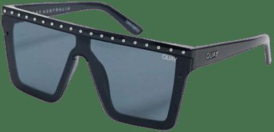 Black Hindsight Flatbrow Sunglasses-Quay