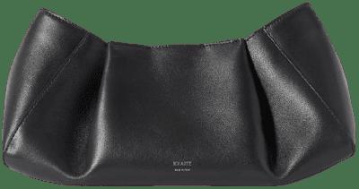Black Jeanne Small Leather Clutch-Khaite