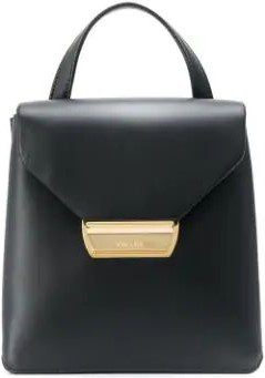 Black Logo Plaque Mini Backpack-Prada