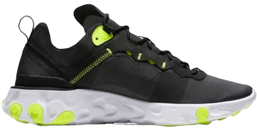 Black New Chapter React Element 55 Sneakers