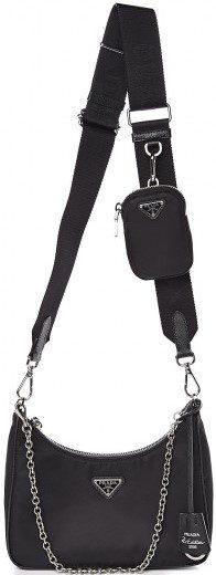 Black Nylon Re-Edition 2005 Shoulder Bag-Prada