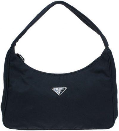 Black Nylon Tessuto Mini Shoulder Bag-Prada