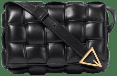 Black Padded Cassette Shoulder Bag-Bottega Veneta