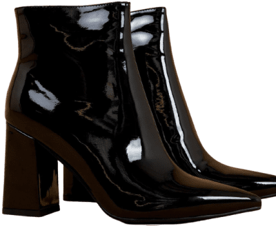 Black Patent Alloy Boots-Therapy