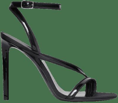 Black Patent Calfskin & Reps Sandal-Celine