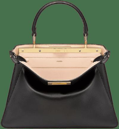 Black Peekaboo I See u Medium Leather Bag-Fendi