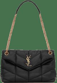 Black Quilted Lambskin Puffer Small Bag-Saint Laurent