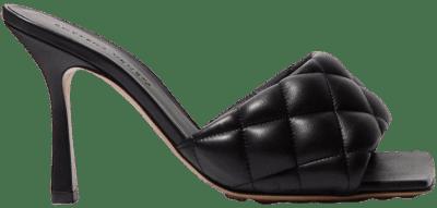 Black Quilted Leather Mules-Bottega Veneta