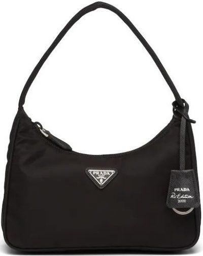 Black Re-Edition 2000 Nylon Mini Bag-Prada