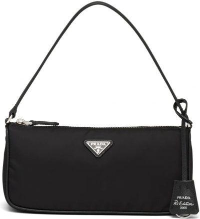 Black Re-Edition 2005 Nylon And Saffiano Leather Mini-Bag-Prada