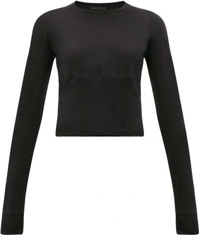 Black Release 05 Hem-Panel Long-Sleeved T-Shirt
