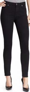 Black Slim Illusion High Waist Skinny Jeans-7 For All Mankind