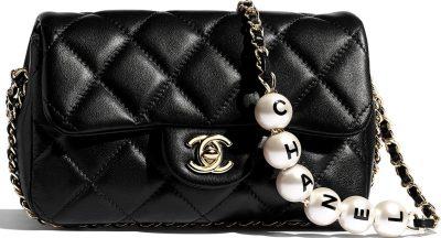 Black Small Flap Bag