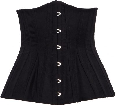 Black Strapless Corset Top