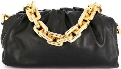Black The Chain Pouch Shoulder Bag-Bottega Veneta