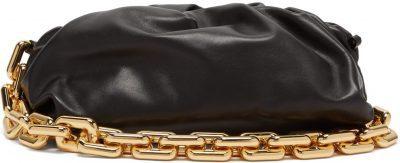 Black The Pouch Chain-Strap Leather Clutch-Bottega Veneta