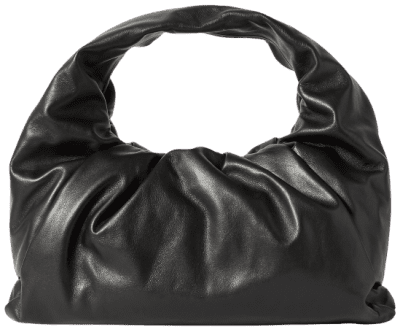 Black The Shoulder Pouch Leather Bag-Bottega Veneta