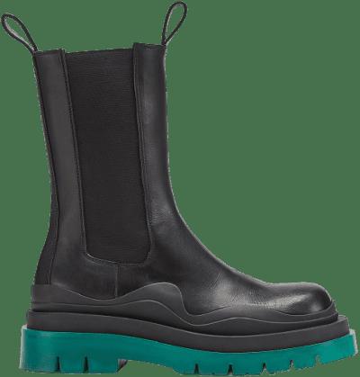 Black Tire Boots-Bottega Veneta